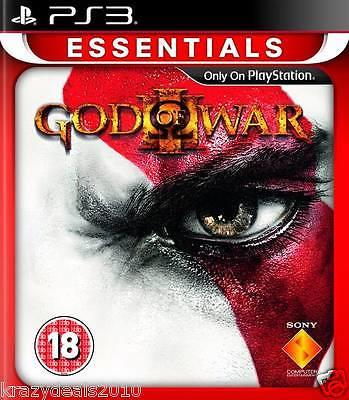 God Of War 3 III Three Action (Sony Ps3 Playstation 3 Essentials) New in Box