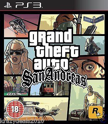 Grand Theft Auto: San Andreas GTA PS3 Playstation 3 Region Free Action Game New