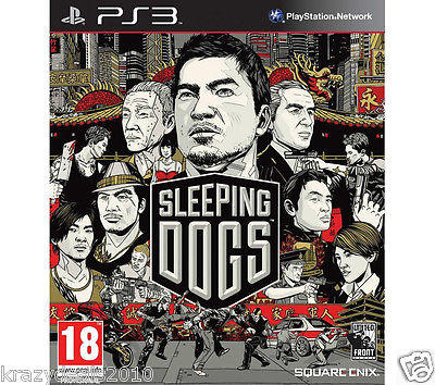 Sleeping Dogs (Sony PS3 Playstation 3) Region Free Action Games New in Box