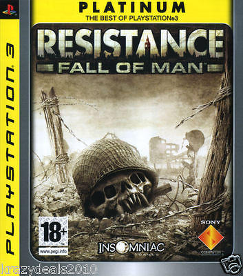 Resistance Fall Of Man Platinum PS3 Playstation 3 Region Free Games New