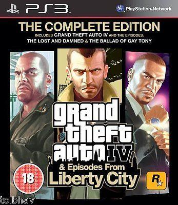 GTA Grand Theft Auto IV 4 Complete Liberty City Sony PlayStation 3 PS3 Games New