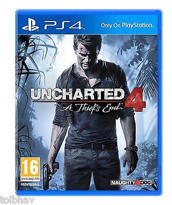 Uncharted 4: A Thief's End IV (Sony PlayStation 4 PS4 Games) New Sealed