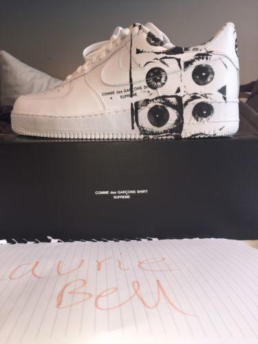 superior quality f926f 2d3de Supreme X Comme Des Garcons CDG X Nike Air Force 1 Low UK11 DS BNIB