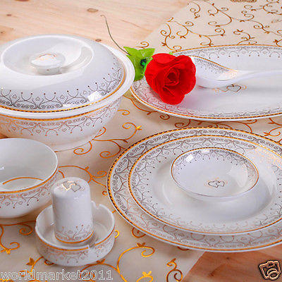 """56 Piece"" European High Quality Bone Porcelain Dinner Sets/Table Ware"