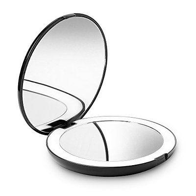 Fancii LED Lighted Travel Makeup Mirror, 1x/10x Magnification - Daylight LED, 5