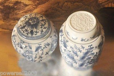 New Continental Fashion High quality Blue and white Art Tea caddy