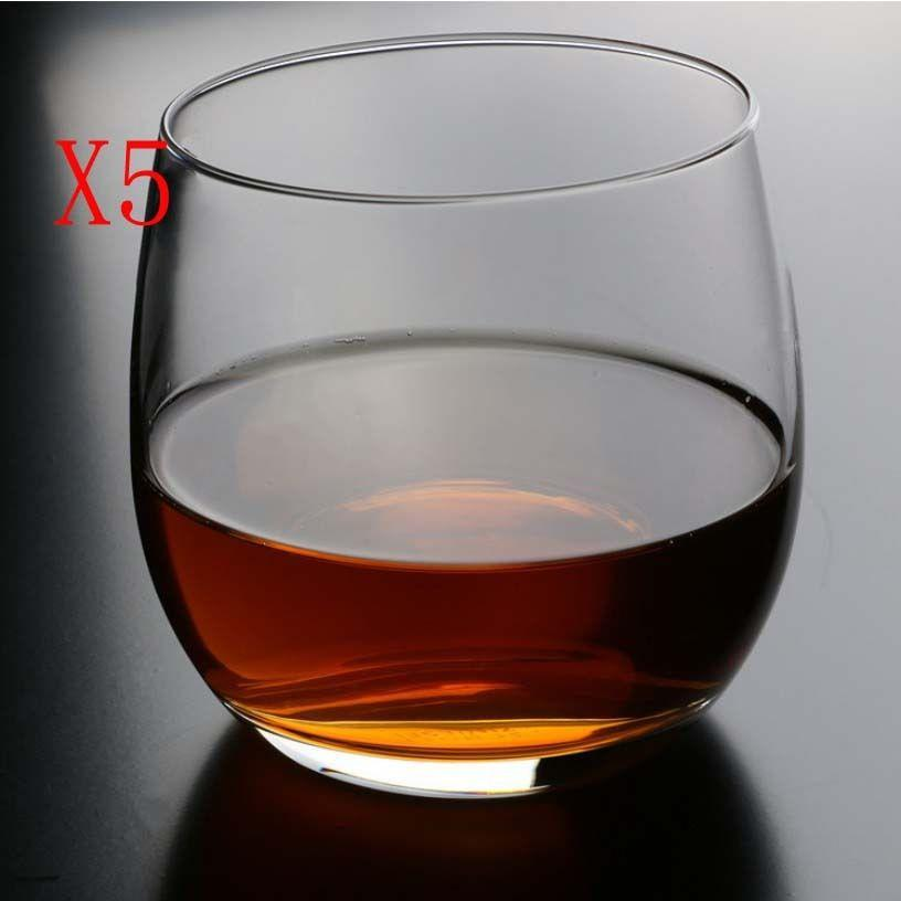 New 5X Capacity 400ML Height 85MM Round Bottom Whisky Wine Glass/Glassware %