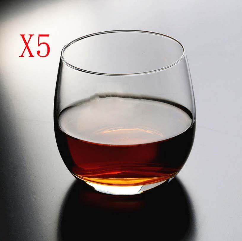 New 5X Capacity 330ML Height 83MM Transparent Whisky Wine Glass/Glassware %