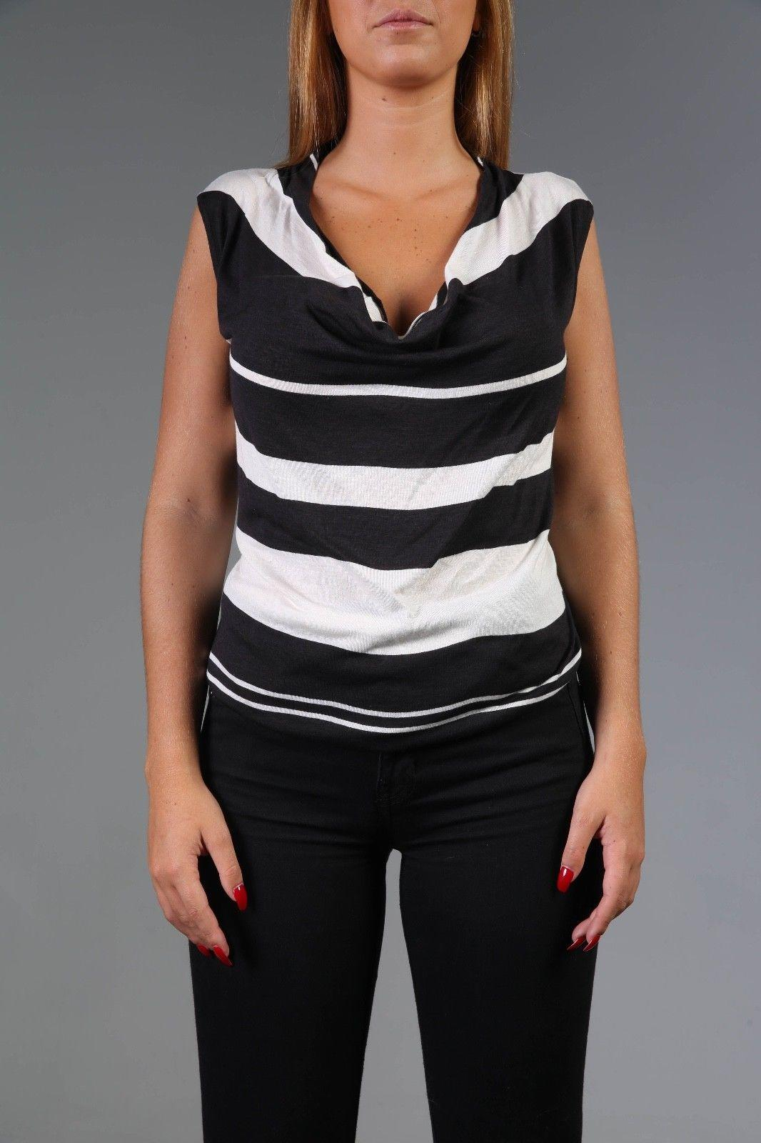 Women Amei Stripes Top Size M