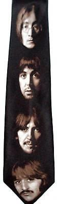 BEATLES NECKTIE NEW TIE THE WHITE ALBUM RINGO PAUL GEORGE HARISON JOHN LENNON