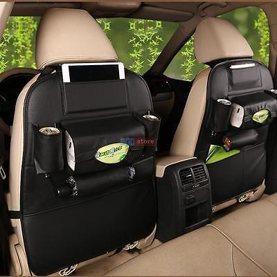 2PCS Auto Car Seat Back Multi-Pocket Storage Bag Organizer Holder Accessory