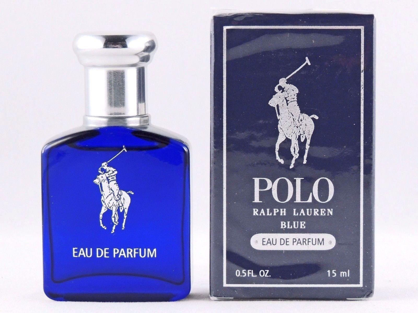 Ralph Lauren Polo Blue Eau De Parfum EDP mini splash 0.5 oz 15 ml Sealed NIB