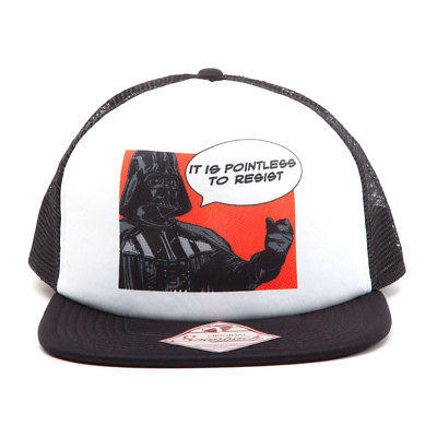 NEW! Star Wars It Is Pointless To Resist Darth Vader Trucker Snapback Baseball C
