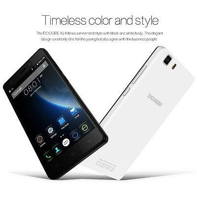 "DOOGEE X5 5"" Unlocked Smartphone Android 5.1 5MP MT6580 Quad Core Dual Sim"