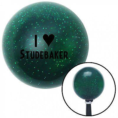Black I  3 STUDEBAKER Green Metal Flake Shift Knob  with 16mm x 1.5 insert