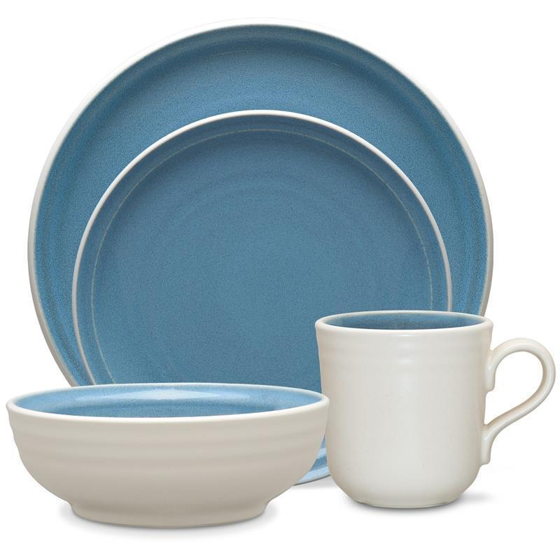 Noritake Colorvara Blue 32Pc Dinnerware Set Service for 8  sc 1 st  Wise Live : blue and green dinnerware - pezcame.com