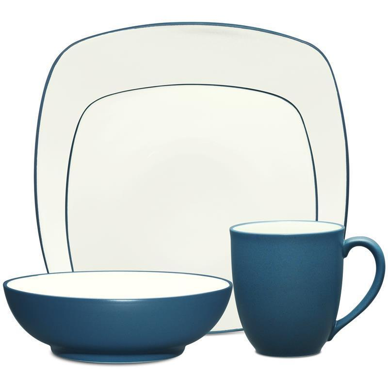 Noritake Colorwave Blue Square 32Pc Dinnerware Set Service for 8  sc 1 st  Wise Live & Noritake Colorwave Blue Square 32Pc Dinnerware Set Service for 8 ...
