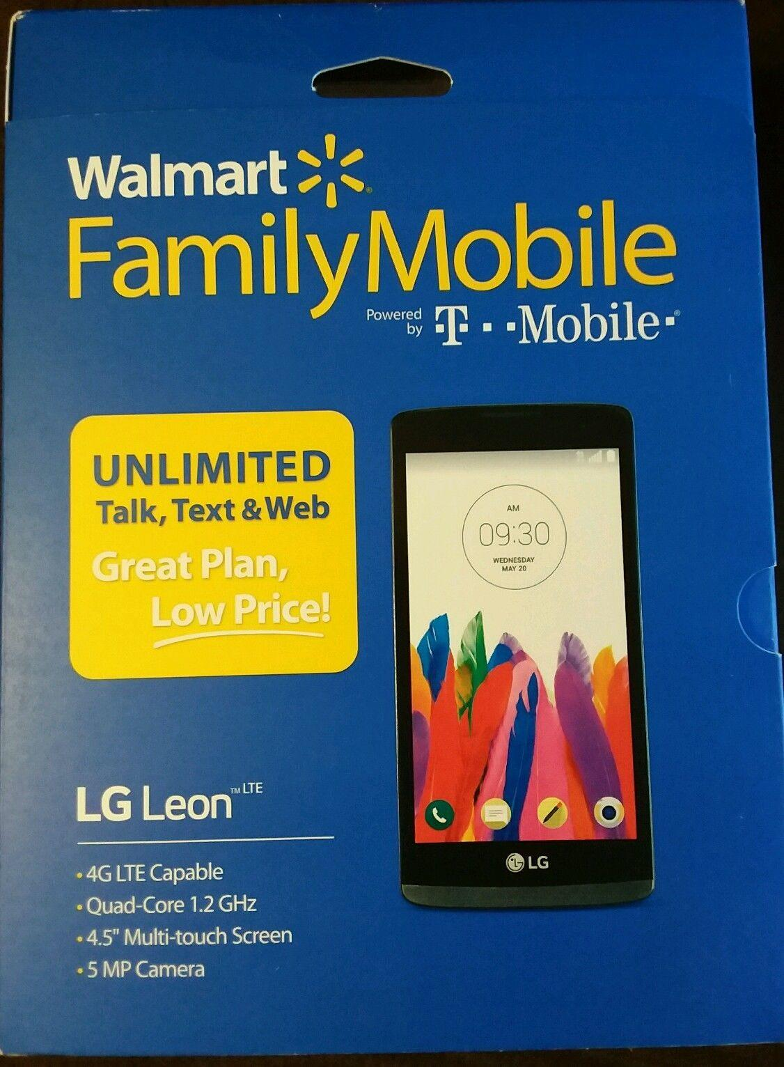 NEW - Walmart Family Mobile Powered by T-Mobile LG Leon 4 5