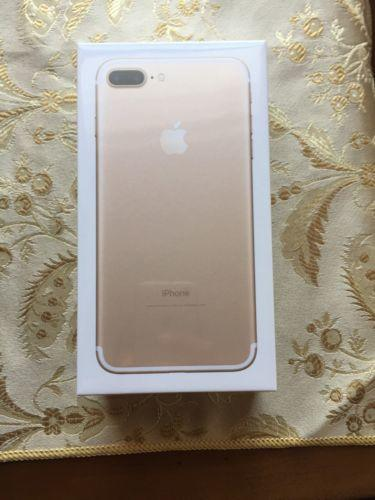 iPhone 7 Plus 128gb Gold AT&T Unlocked Brand New Sealed Box