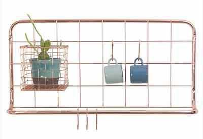 Open Grid Kitchen Rack Copper House Utensils Cooking Metal Jugs Wall Holder  New