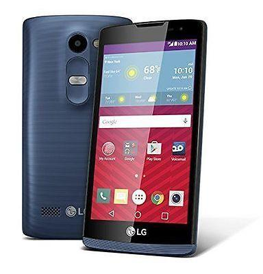 Brand New LG Tribute 2 - 8GB - Blue (Virgin Mobile) Smartphone