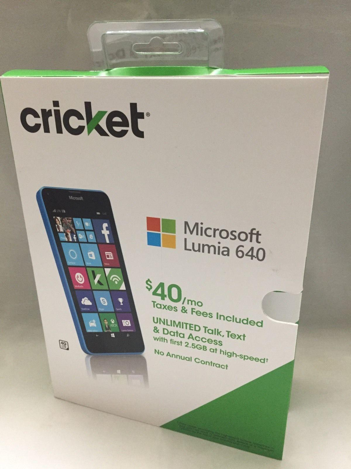 New Microsoft Lumia 640 4G LTE Prepaid Cell Phone Cricket Wireless