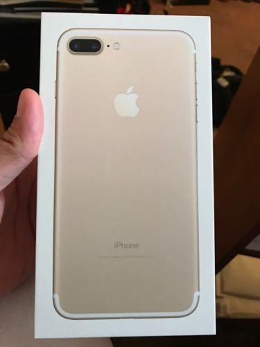 iPhone 7 Plus Gold 256gb ATT,  Case & Screen Protector, Mint PRICED TOO SELL!!!